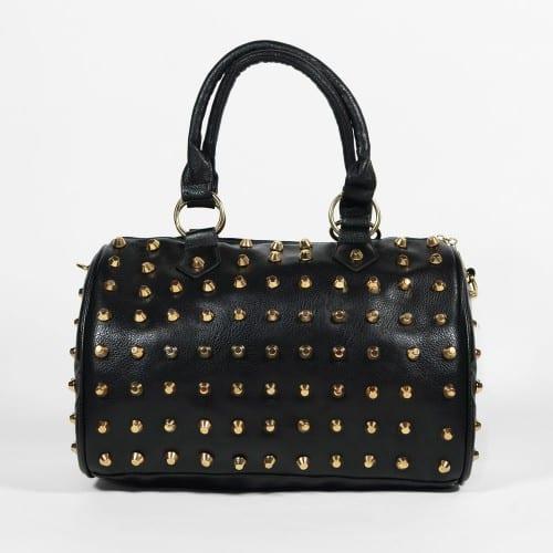 sac noir à clous dorés