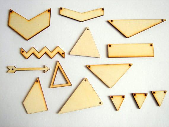 bijoux géométriques