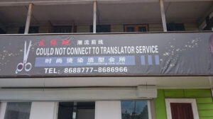"Top 10 des erreurs de traduction : ""Could not connect to translator service"""