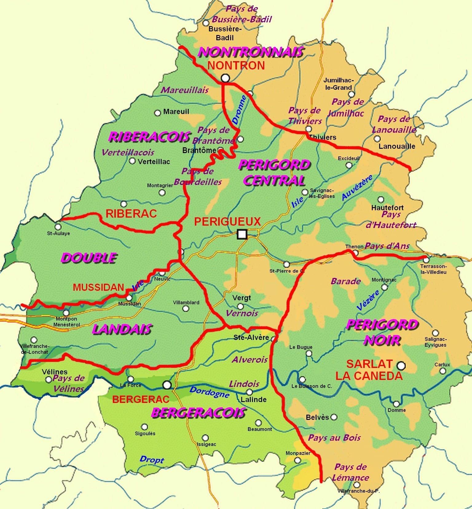 périgord géographie région