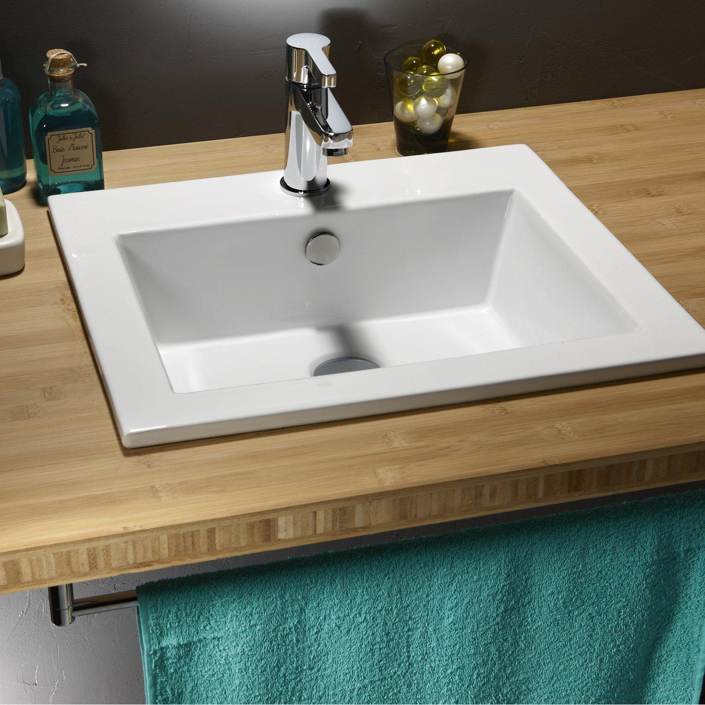 Vasque de salle de bain poser ou encastrer for Lavabo a poser salle de bain